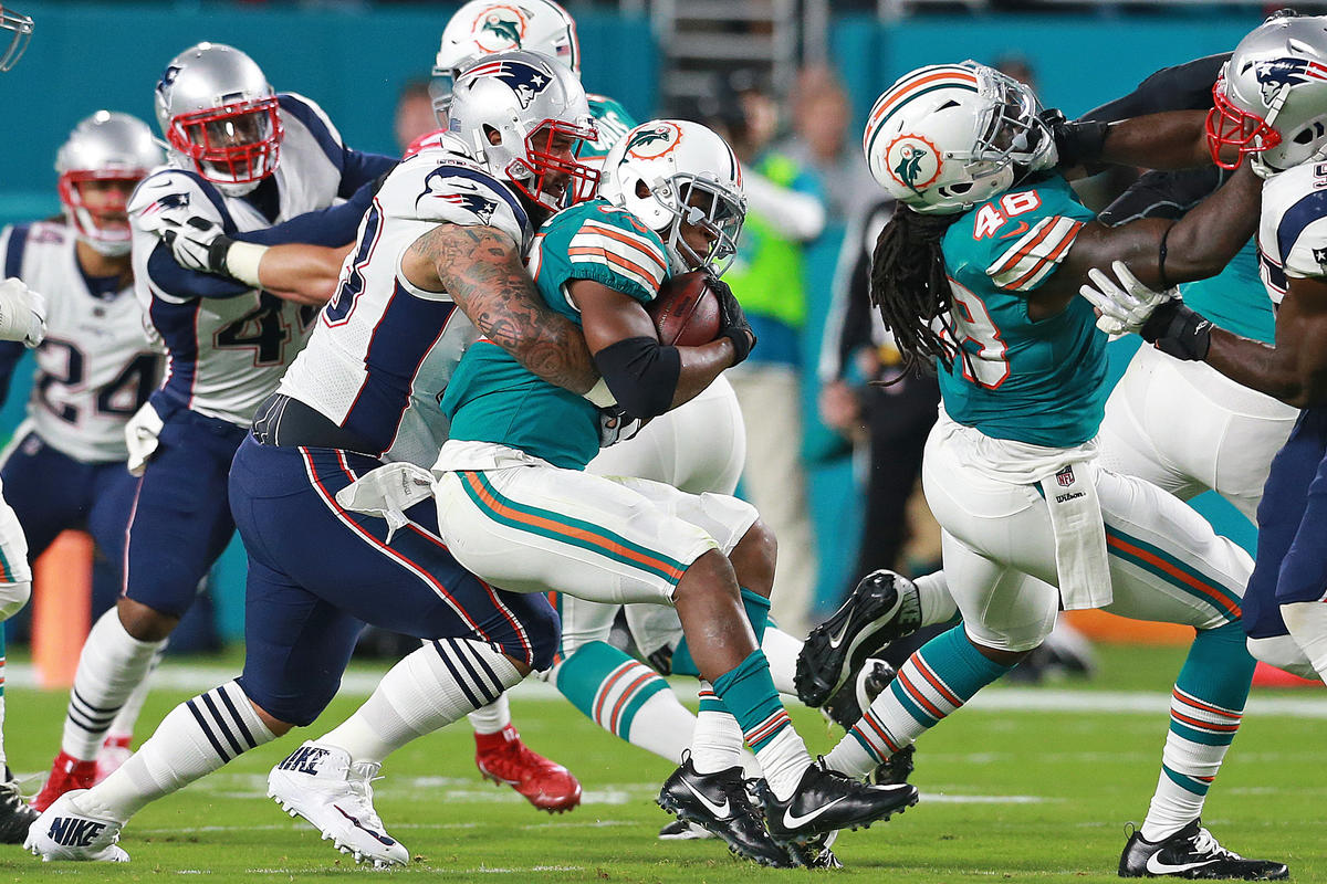 Check out all the highlights and stats from Monday nights PatriotsDolphins game in Miami